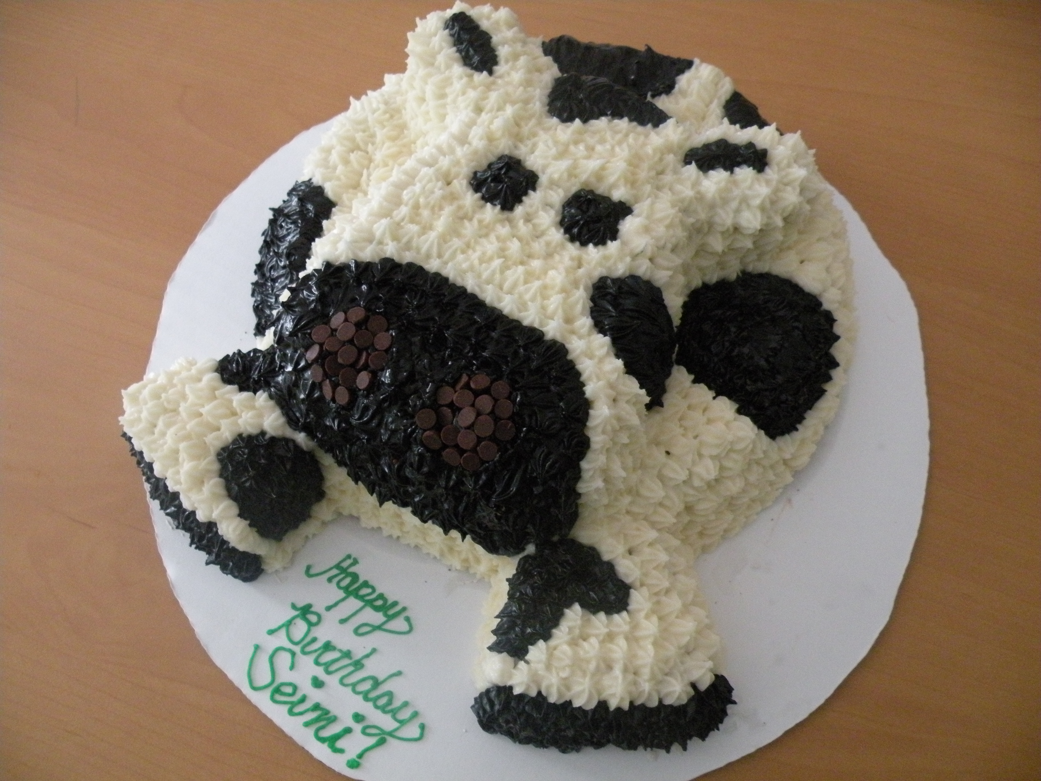 Miraculous Cow Cake Vegan Devotee Funny Birthday Cards Online Overcheapnameinfo